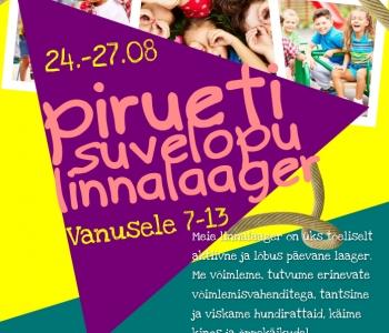 Linnalaager 24.-27.08.2020 REGISTREERU!