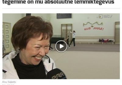 VK Piruett peatreener Mall Kalve ETV spordisaates intervjuud andmas.