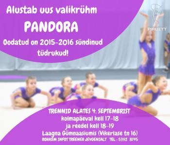 Alustab uus valikrühm PANDORA