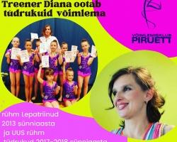 Treener Diana ootab uusi tüdrukuid võimlema