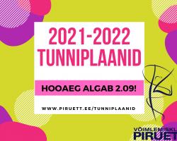 2021-2022 TUNNIPLAANIDE INFO