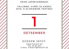 SPORDIKLUBI KINNITAMINE - TÄHTAEG 1. DETSEMBER!